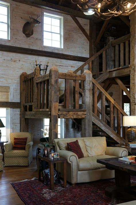 stunning rustic cabin plans loft with wooden staircase 25 best ideas about barn home designs on pinterest barn
