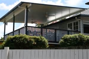 Awning Lights Brisbane Deck And Flyover Patio Roof Timber Balustrade