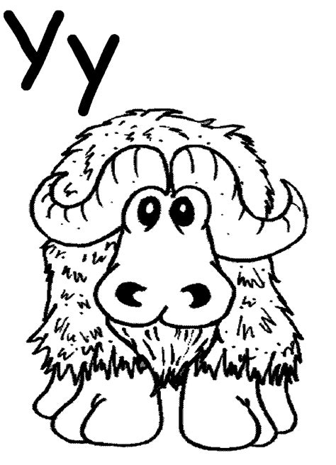 coloring pages yak yak coloring pages az coloring pages