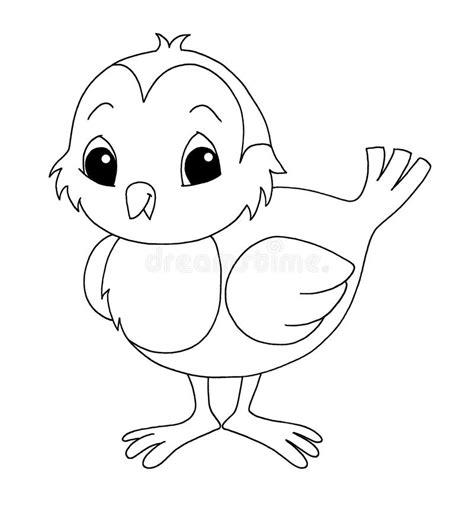 clipart bianco e nero in bianco e nero uccello illustrazione di stock