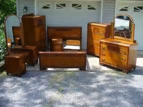 art deco bedroom furniture waterfall dresser chest vintage 1930 s art deco waterfall 8 piece bedroom set bed vanity