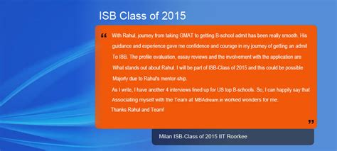 Mba Admissions Consulting Prices by Review Of Isb Indian School Of Business