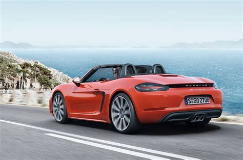 2017 porsche 718 boxster fully revealed with turbo flat