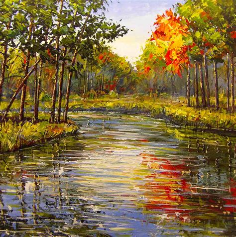 acrylic painting nature maxim grunin drawing painting landscape paintings 2010