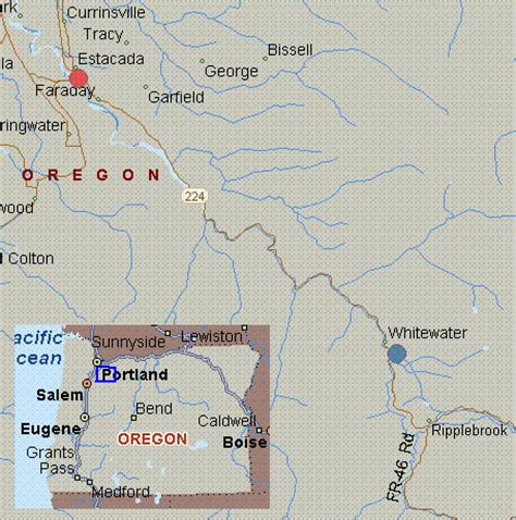 clackamas county section 8 map for clackamas river oregon white water three lynx