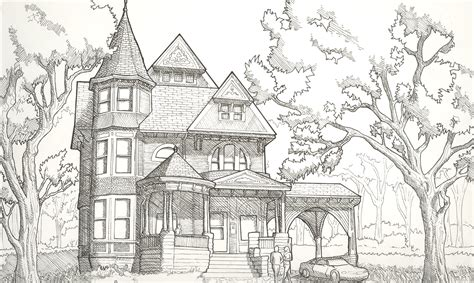 drawing of houses victorian house line drawing www imgkid com the image