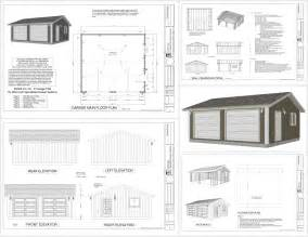 garage plan pdf and dwg plans building diy free prefab kits software