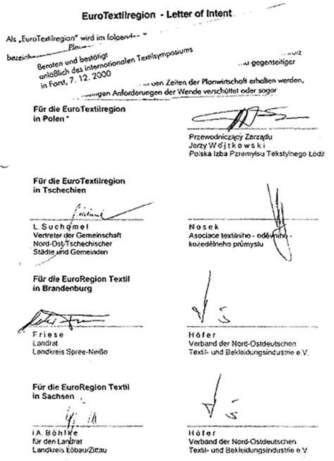Letter Of Intent Zusammenarbeit Letter