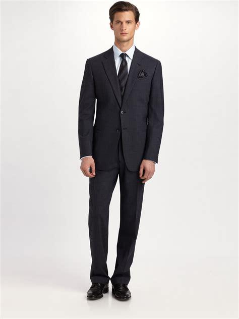in suite lyst armani giorgio model suit in blue for