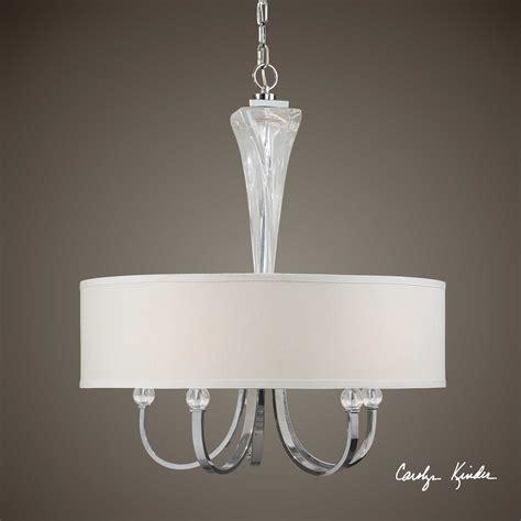 Uttermost Lighting Chandeliers Uttermost Grancona Drum Shade Five Light 26 Wide