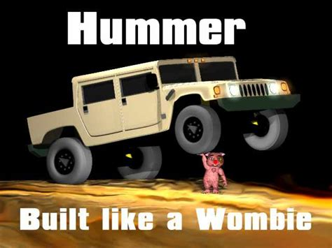 Hummer Pluto wombies built like a hummer