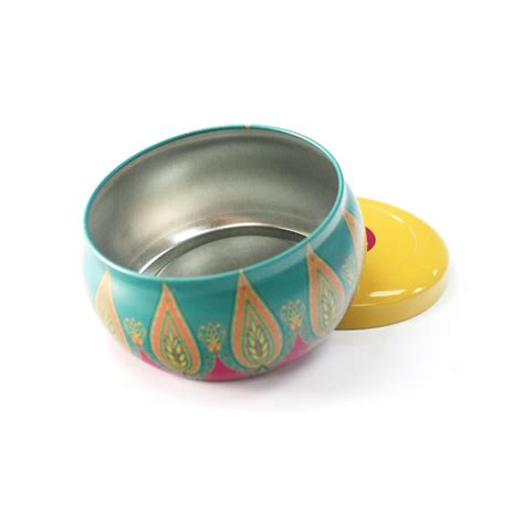 Decorative Tins by Decorative Metal Tin Candle For Sale