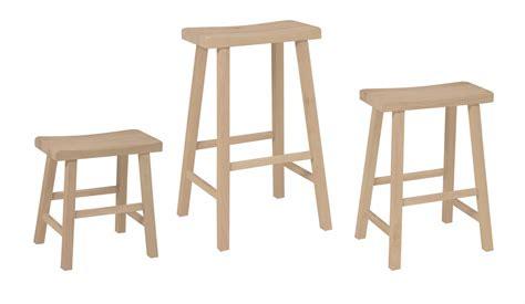Wood Saddle Seat Bar Stools by Solid Wood Saddle Seat Stool