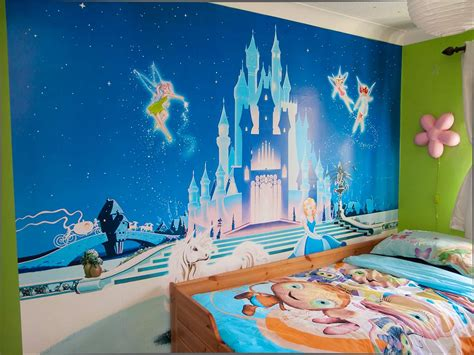 disney wallpaper room decor disney castle