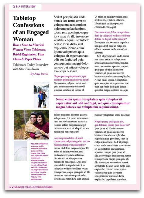 magazine layout q a tableware today magazine solarek studio