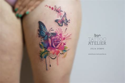 watercolour tattoos by julia dumps linzer tattooatelier