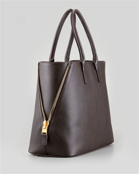 Tom Ford Bag by Lyst Tom Ford Trapeze Calfskin Tote Bag Brown