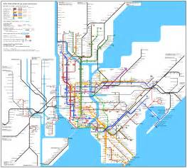 Metro Map New York by New York Subway Map New York Mappery