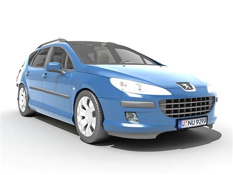 peugeot 407 wagon peugeot 407 station wagon 3d model 3ds max files free