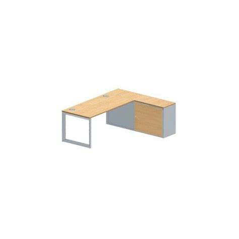 conect table de bureau rectangulaire sur pied boucle fixe