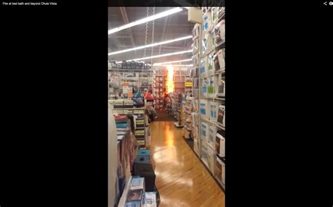 working at bed bath and beyond bed bath and beyond fire caught on tape by customer video
