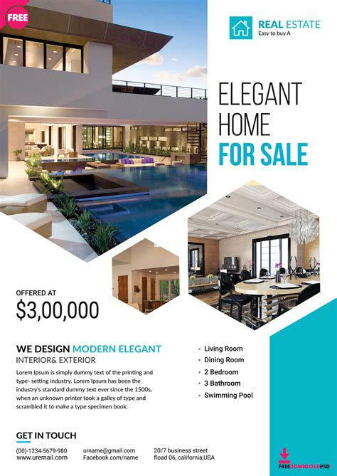 Inspirational Best Real Estate Brochure Desi With Real Estate Flyer Templates For Marketing Microsoft Real Estate Flyer Templates