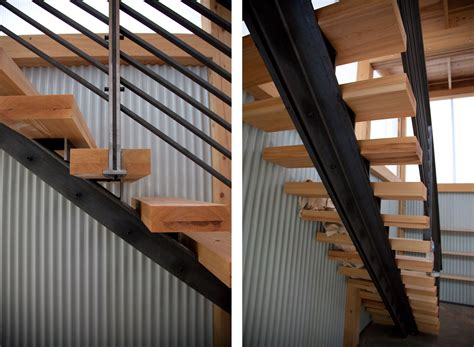 Metal Stairs Design Metal Staircase Frame Riveted To Wooden Stairs Manufactured In House And Installed House