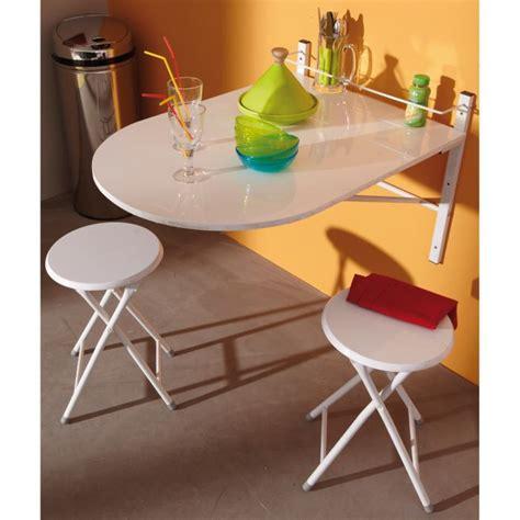 table de cuisine pliable table murale sinai pliable avec 2 tabourets achat