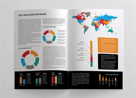 report template indesign clean and simple annual report on behance
