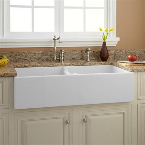 Kitchen Sinks Houzz 39 Quot Risinger Bowl Fireclay Farmhouse Sink White Traditional Kitchen Sinks By