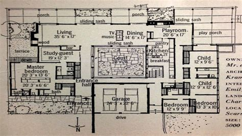 century homes floor plans mid century modern house plans mid century modern house