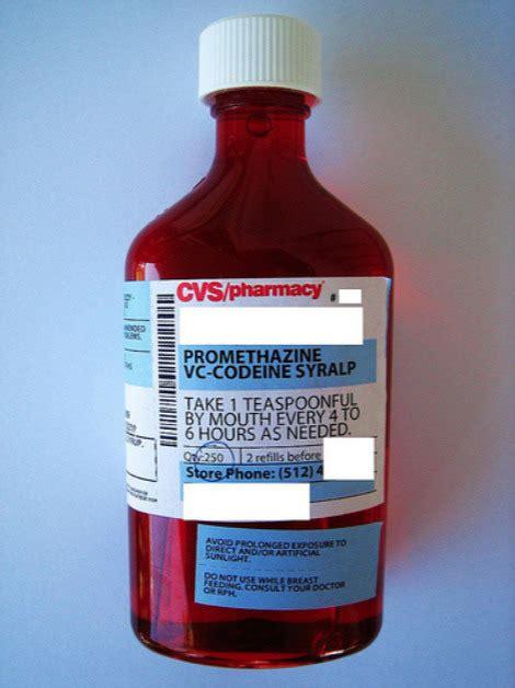 promethazine codeine syrup colors tea