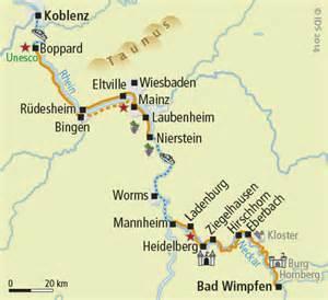 Traumhafte Rad & Schiff Radreise - Rhein Radweg – Velociped I 70 Bike Path