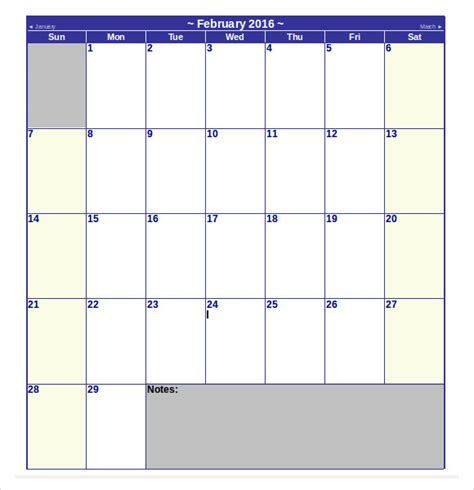 9 Microsoft Calendar Templates Download For Free Sle Monthly Calendar Template Microsoft Word