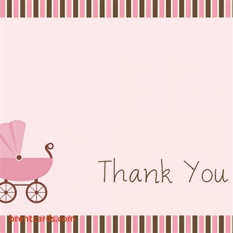thank you letter newborn gift thank you note for baby gift card free card design ideas