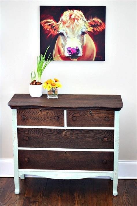 diy chalk paint and stain dresser makeover using chalk based paint and stain
