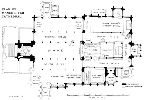 Catholic Church Floor Plan bell s cathedrals the cathedral church of manchester by