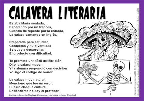 Imagenes Calaveras Literarias | contextos internacionales comparados 5 de las calaveras