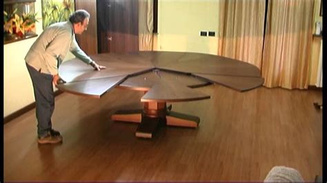 Round Wood Dining Room Tables expanding round table extra size youtube