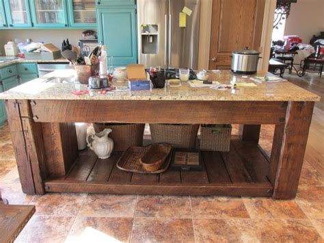 barn wood kitchen island for the house pinterest reclaimed barn wood kitchen island old things repurposed