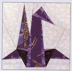 Origami Crane Quilt Pattern - paper piecing origami crane quilts
