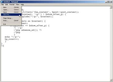 Membuat Web Php Dengan Notepad | bagaimana membuat dan menyimpan php di notepad