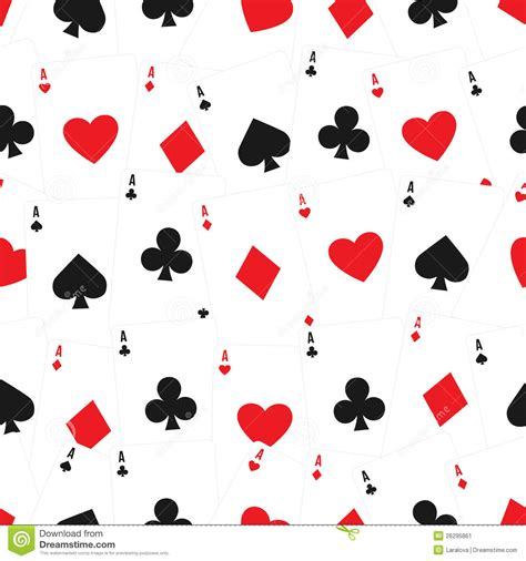 pattern card games playing cards seamless background pattern stock vector