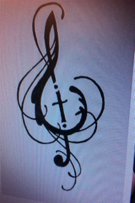 treble clef cross tattoo treble clef cross bible jesus