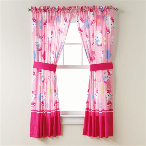 sears kids curtains hello kitty hello kitty panel pair tiebacks home bed