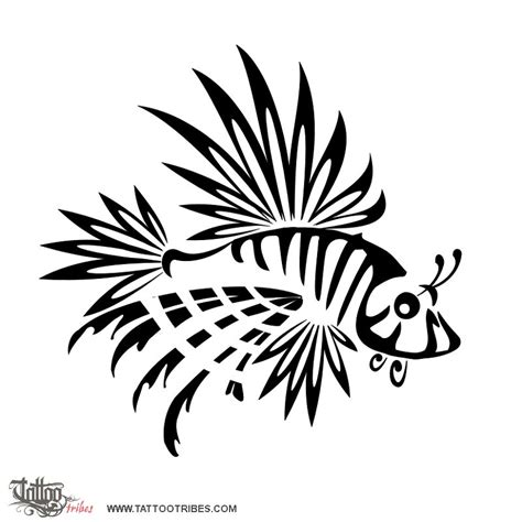 lionfish tattoo of lionfish family custom
