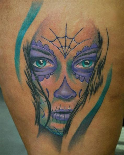 sugar face tattoo designs sugar skull quot day of the dead quot or dia de