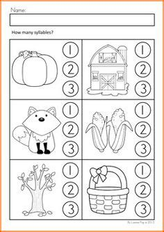 Free Syllable Worksheets For Kindergarten by Trans K On Kindergarten Worksheets