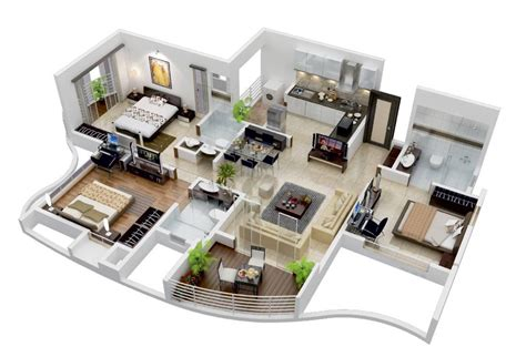 3d 3 Bedroom House Plans 19 Via House Of Property Something About The Shape Of This Home Has A