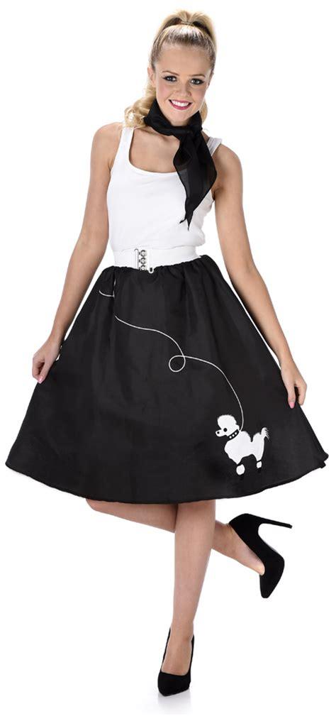 Hh 920592couple Costume Black black poodle skirt fancy dress 50s 60s rock n roll womens adults costume ebay